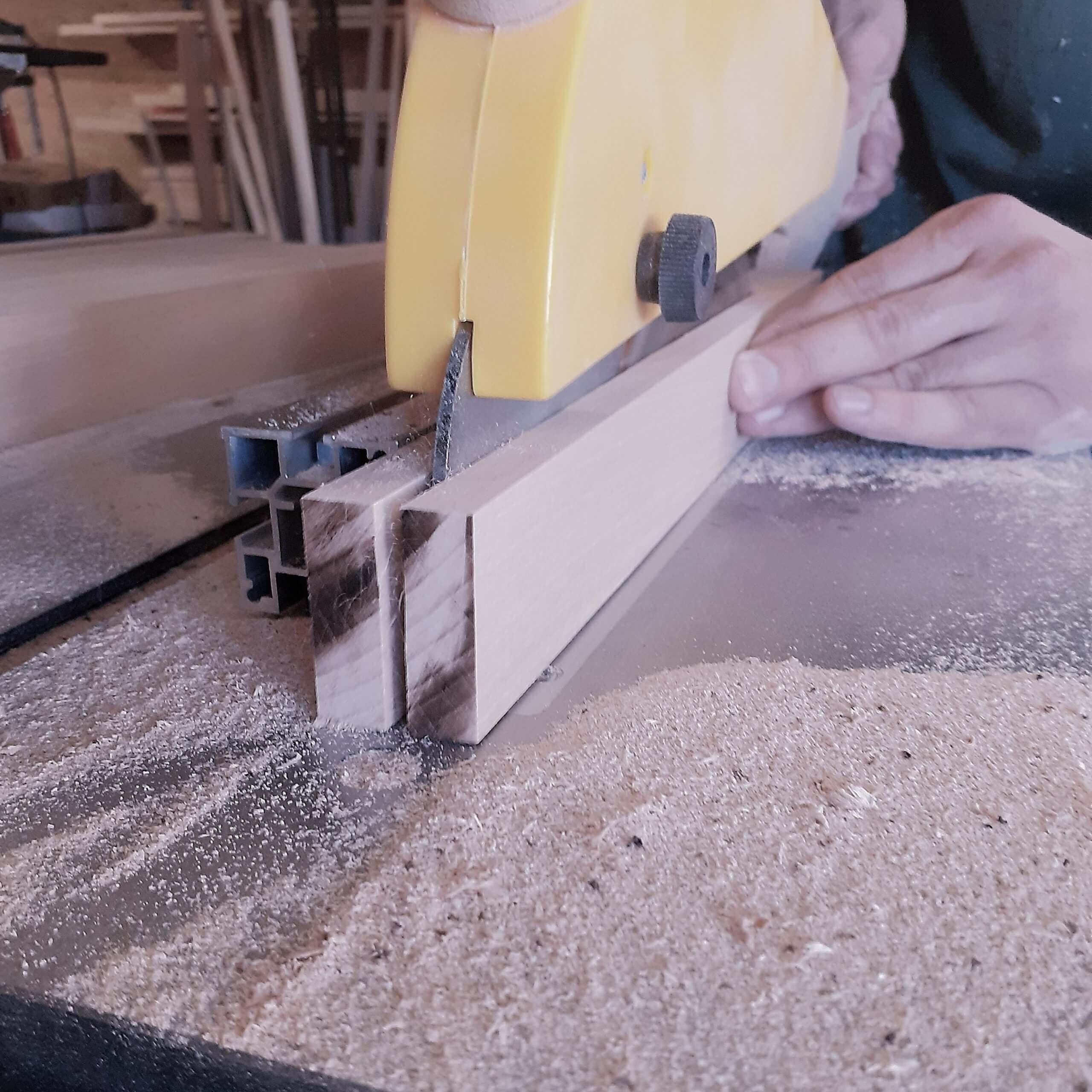 artisan créateur sciage du bois de hetre
