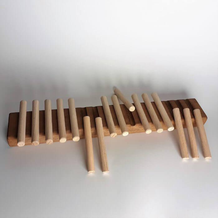 1, 2, 3 foncé jeux en bois